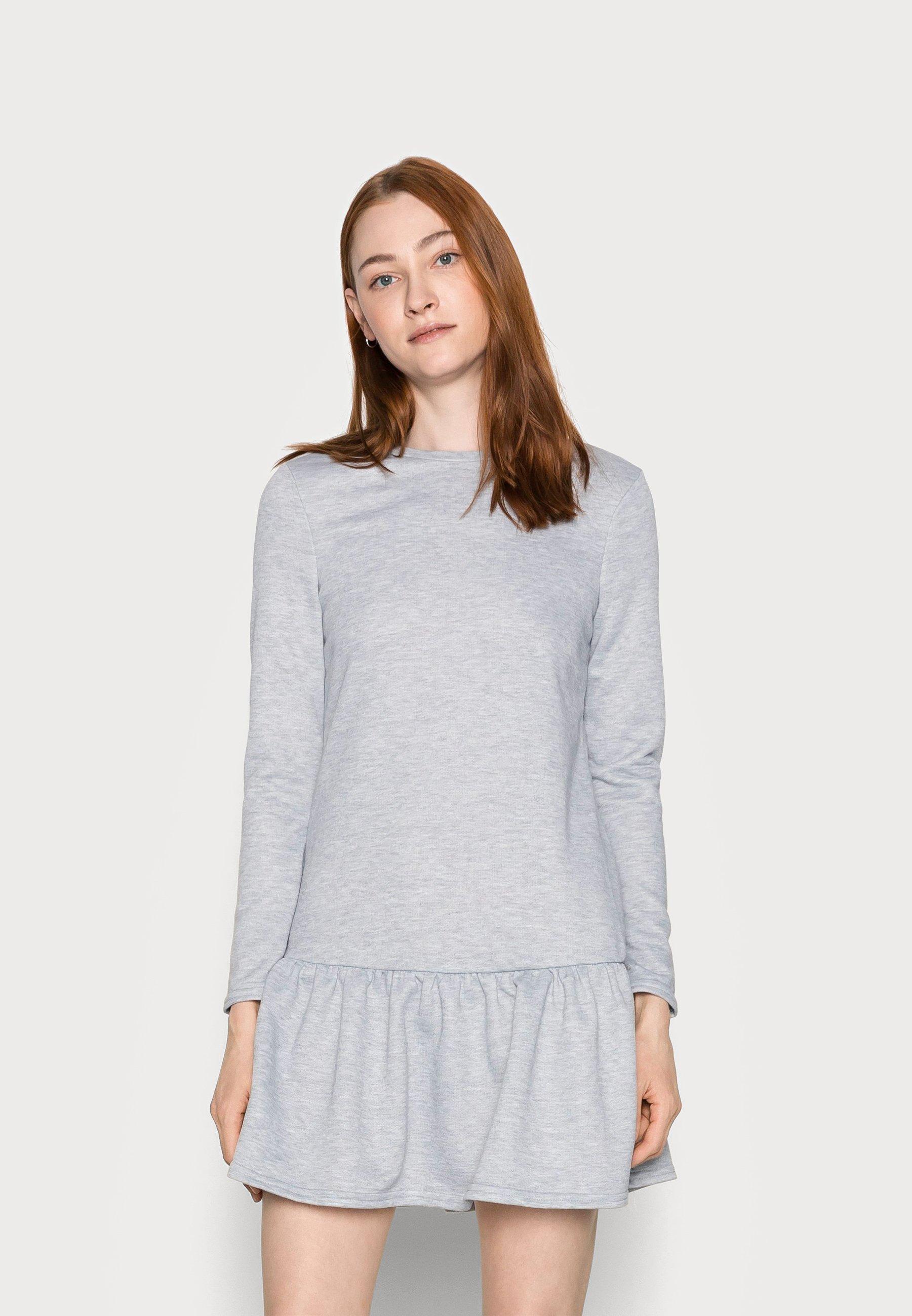 Women DROP RESS - Day dress - grey niu