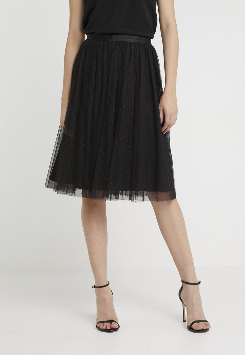 Needle & Thread - KISSES TULLE MIDI SKIRT - Plisséskjørt - ballet black