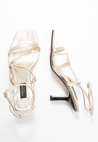 River Island Wide Fit - Sandals - gold - 3