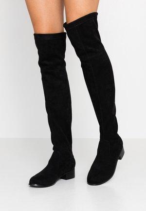 TARAA - Kozačky nad kolena - black