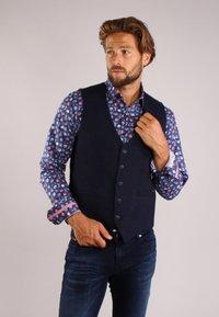 Gabbiano - Suit waistcoat - denim - 3