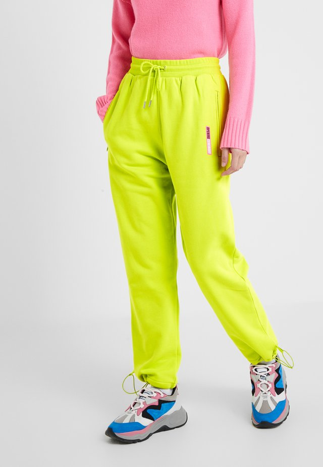 Tracksuit bottoms - fluorescent yellow