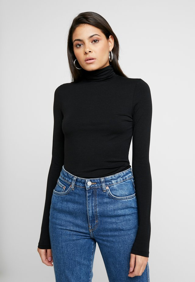 COCO ROLL NECK - Long sleeved top - black