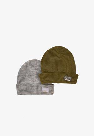 2 PACK  - Beanie - khaki/grey