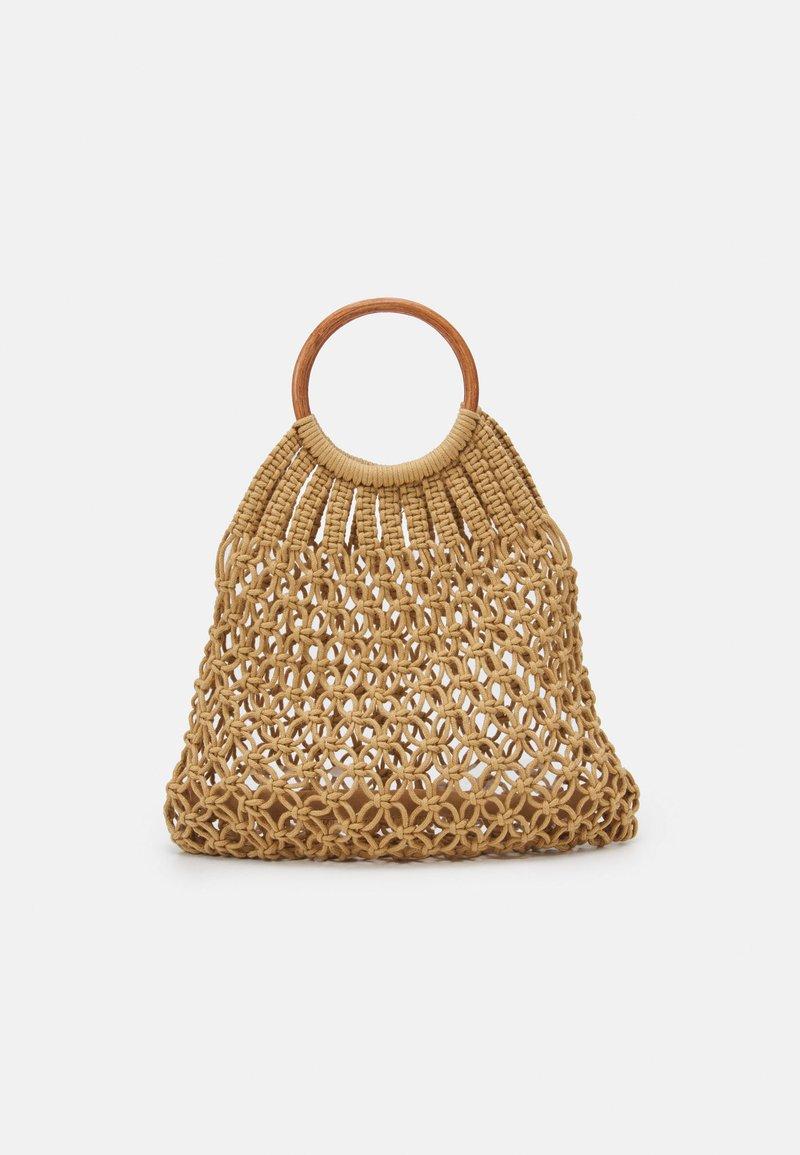 Pieces - PCLUNIA CROCHET BAG - Tote bag - almond buff