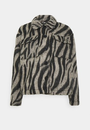 JDYLOLES ANIMAL SHIRT SHACKET - Lehká bunda - siple taupe/black