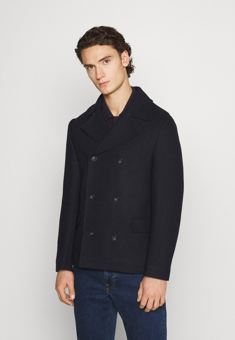 Isaac Dewhirst - PEA COAT - Lehká bunda - dark blue