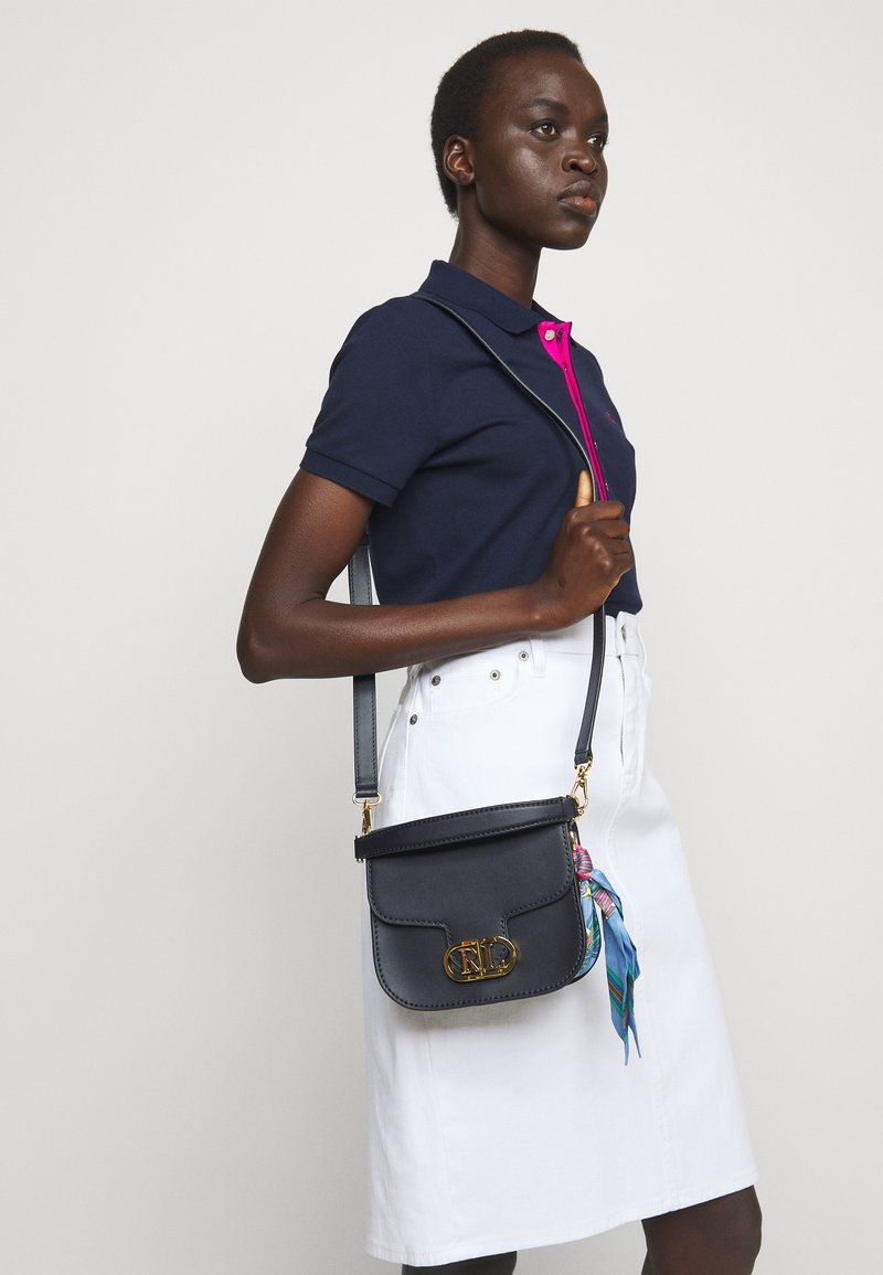 Lauren Ralph Lauren - SMOOTH SCARF LOGO - Handbag - dark blue