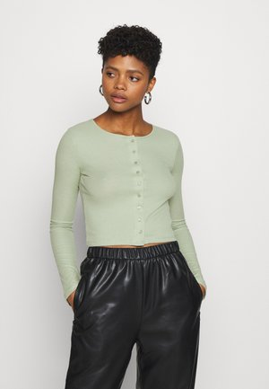 MINERVA LONG SLEEVE - Cardigan - light pistachio