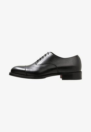 HOPPER TOE PORT - Smart lace-ups - black