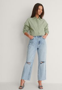 NA-KD - Straight leg jeans - light blue - 1