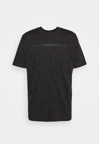 Under Armour - ALL OVER WORDMARK - T-shirts print - black/jet gray - 5