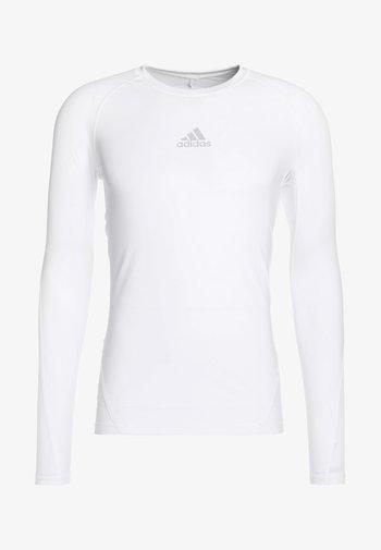 ALPHASKIN SPORT AEROREADY FOOTBALL LONG SLEEVE - Sports shirt - white