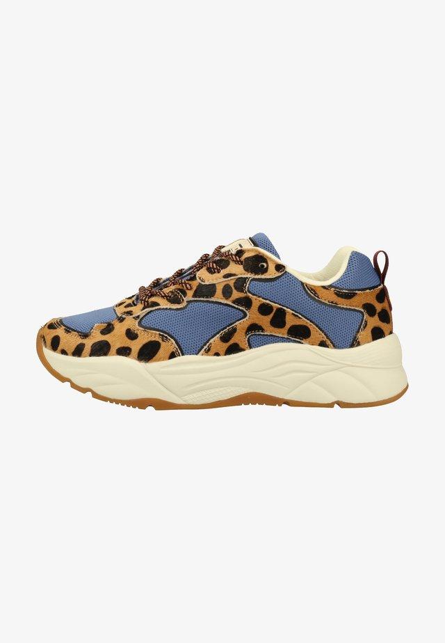 Sneakers laag - blue+leo print