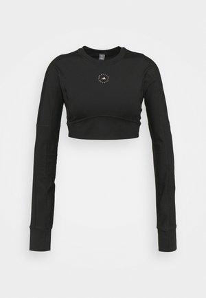 CROP - Camiseta de manga larga - black