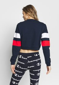 Champion - CREWNECK CROPTOP - Sweatshirt - dark blue - 2