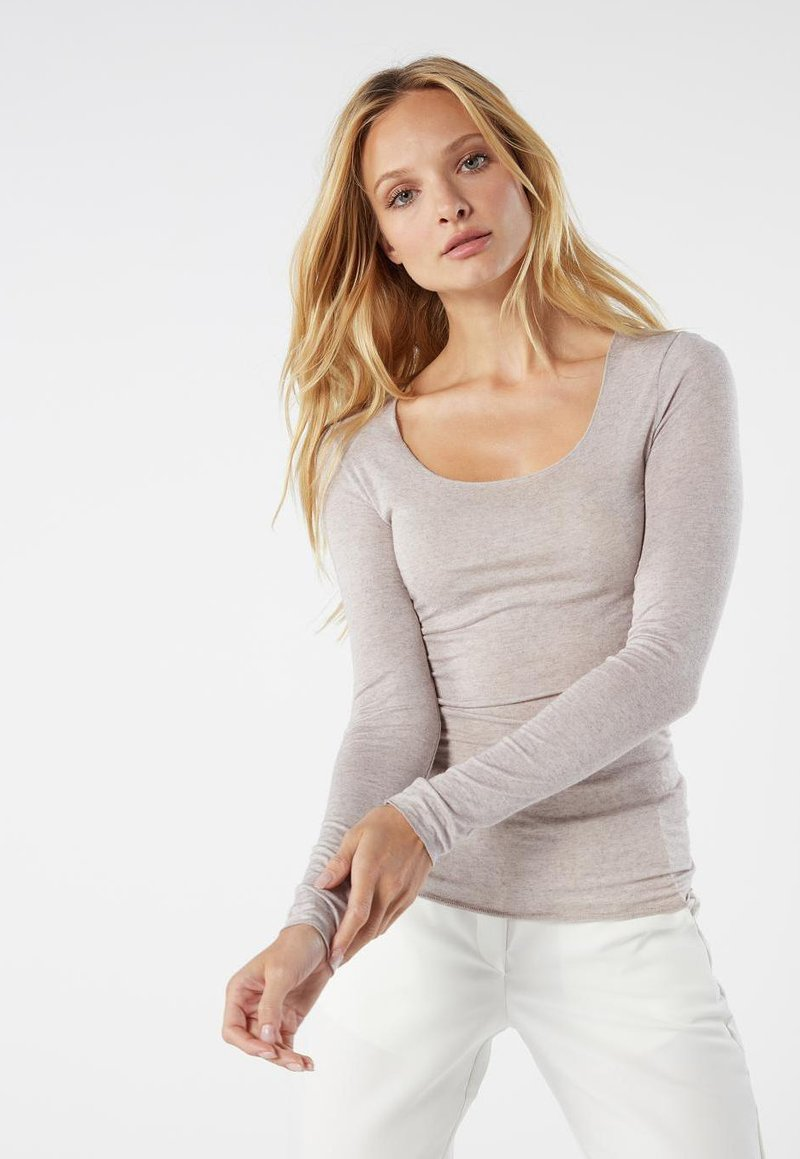 Intimissimi - LANGARMSHIRT AUS CASHMERE ULTRALIGHT - Pyjama top - doppia balza romantica nat.