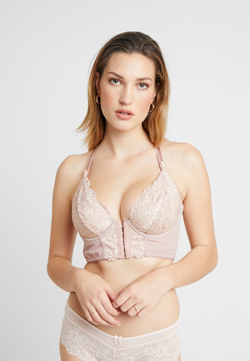 Pour Moi - OPULENCE FRONT FASTENING UNDERWIRED - Sujetador con aros - mink/oyster