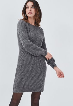 Gebreide jurk - gris clair