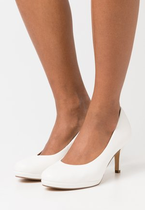 COURT SHOE - Classic heels - white matt