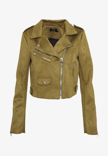 Faux leather jacket - dark green