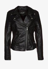 PASSENGER - Kožená bunda - black