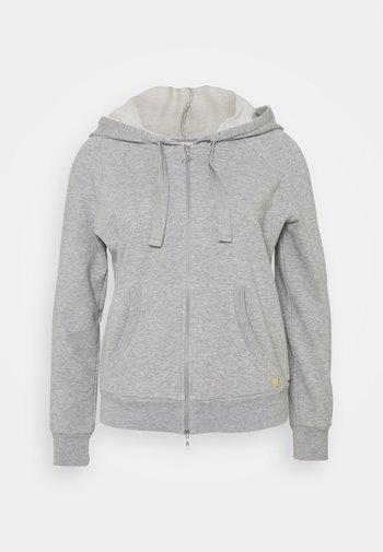 FULL ZIP HOODIE - Zip-up hoodie - grey melange