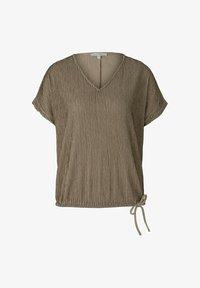 TOM TAILOR DENIM - Blouse - beige black structured stripe - 4