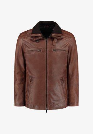 FLEX PARKA  - Leren jas - cognac brown