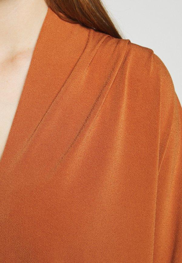 By Malene Birger BIJANA - Bluzka z długim rękawem - brick Kolor jednolity Odzież Damska XBQQ YK 1