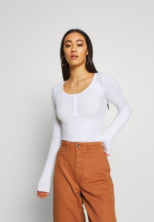 TONI LONG SLEEVE - Long sleeved top - white