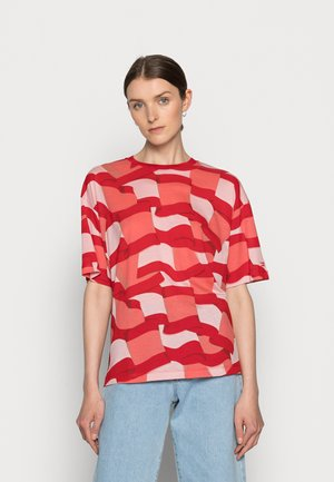 ICON RELAXED GRAPHIC - Print T-shirt - red