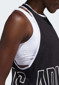 adidas Performance - ALPHASKIN GRAPHIC TANK TOP - Top - black - 4