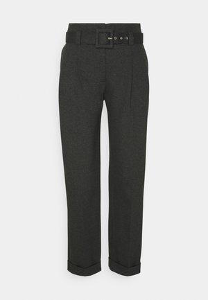 PLEAT TROUSER - Trousers - slate grey