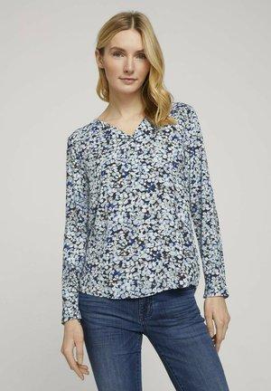 PRINTED - Blouse - navy floral design