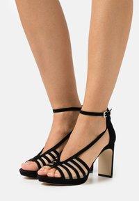 Anna Field - LEATHER - Korolliset sandaalit - black - 0