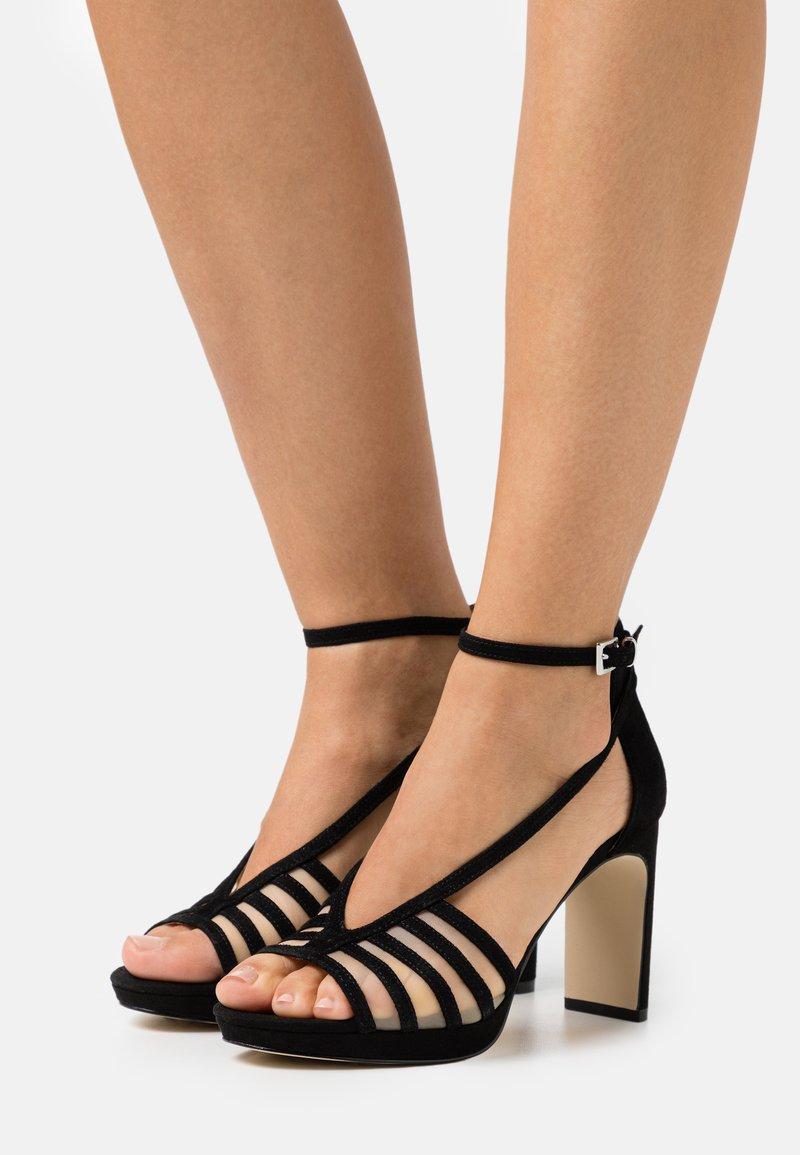 Anna Field - LEATHER - Korolliset sandaalit - black