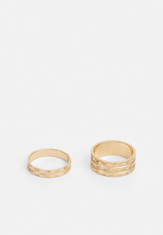 ETCHED 2 PACK - Ring - gold-coloured