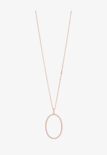 MIT OVALEM ANHÄNGER  UND ZIRKONIA - Necklace - rose gold plated