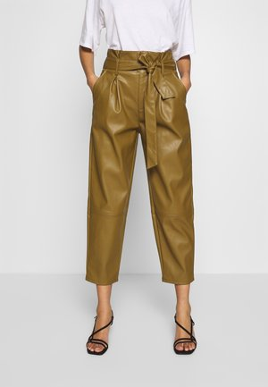 TIE TROUSERS - Trousers - army