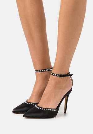 TRIM HEELED SHOES - High heels - black