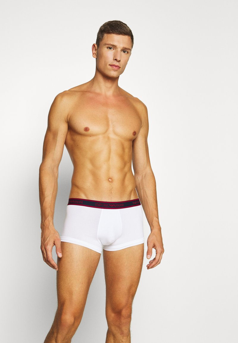 Emporio Armani - TRUNK 3 PACK - Panties - ciliegia/marin/bianc