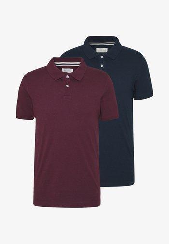 2 PACK - Polo shirt - dark blue/bordeaux