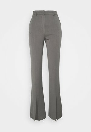 FRONT SLIT TROUSER - Trousers - slate