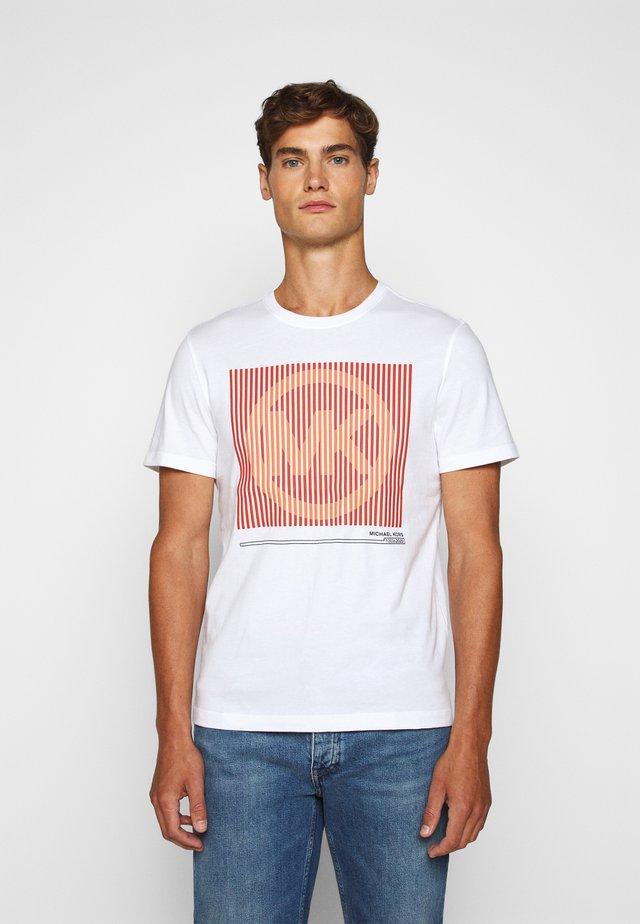 TONAL TEE - T-shirt print - white