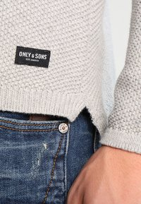 Only & Sons - ONSDAN STRUCTURE CREW NECK  - Strikpullover /Striktrøjer - light grey melange - 4