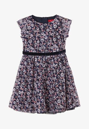 Day dress - dark blue aop