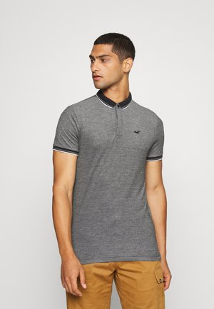 MODERN COLLAR - Polo shirt - textural black/ white tipping
