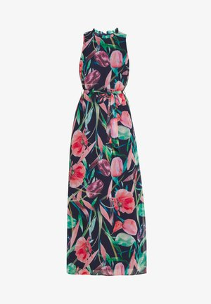 BRUSHED STROKE FLORAL MAXI DRESS - Maxi dress - ink