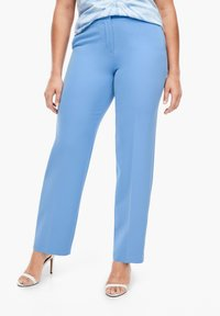 Triangle - REGULAR FIT: STRAIGHT LEG-HOSE - Trousers - blue - 3